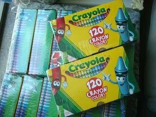 全新現貨Crayola Crayons 120支顏色無毒安全蠟筆