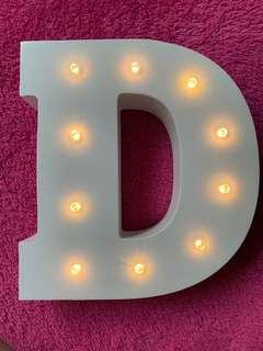 🚚 Letter ' D ' LED Decoration Light