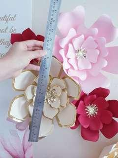 120 various size - Decoration Paper Flowers for Wedding & Event
