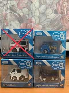 全新未開封 Tiny 微影 TinyQ Toyota Hiace 系列 (可散買)