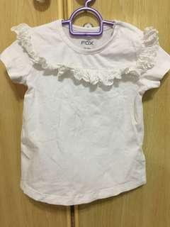 🚚 White ruffles shirt