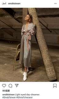 Silvia Tcherassi 花上衣,可當洋裝或外套(全新)