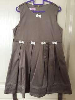 Lovely Lace Brown Satin Party Dress