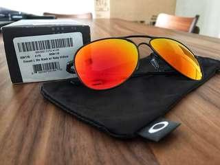 9879b2520f0e9 Oakley Elmont L Satin Black with Ruby Iridium Sunglasses
