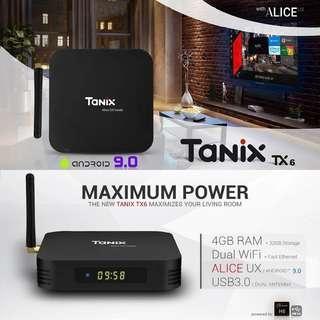 🚚 Tanix TX6 Android 9.0 Smart 4K TV Box Allwinner H6 4GB Ram 32GB Rom Dual Wifi 2.4/5 GHz