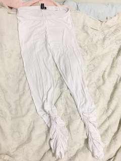 White tights leggings