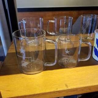 🛍台灣代購 台灣直送 ☕Starbucks [星巴克]8OZ STAR R把手玻璃杯 / 12OZ STAR R 把手玻璃杯 - 典藏 玻璃杯