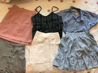 BRAND NEW Tops and Skirts