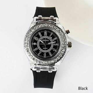 Watches Luminous Glowing LED Backlight Sport Quartz Watch
