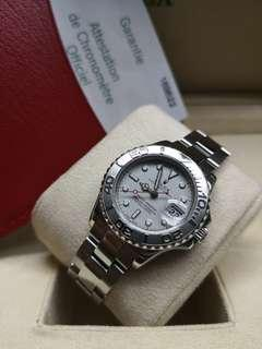 Rolex Yacht-Master Ladies 169622 Platinum Bezel 29mm Automatic