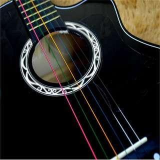 Guitar colourful string