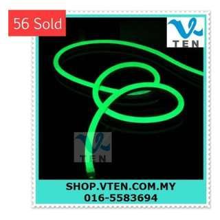 220V Waterproof Super Bright Flexible Neon LED Strip Green 5M