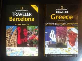 2@RM56.Natgeo.Travel Guide Book-Barcelona & Greece