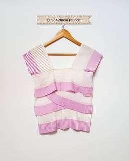 Pleated tops pink