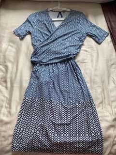 🚚 Seraphine Maternity Wrap Dress