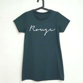 Green Rouge Nice Font Long Tee