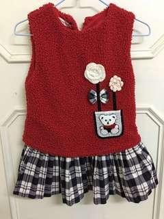 🉑️愛熊漂亮紅洋裝