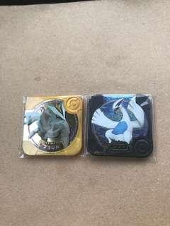 Pokemon Tretta Ulimate Gold Kyurem and Legend Lugia