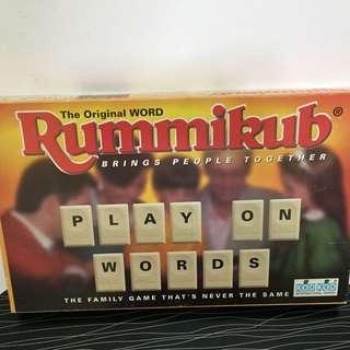 RUMMIKUB WORD BOARD GAME
