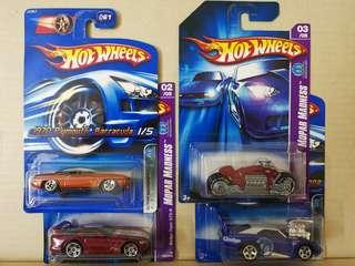Hotwheels Mopar Madness set