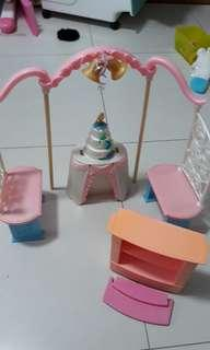 Barbie wedding n shoe rack