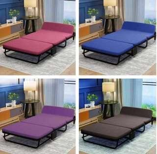 Compact & strong portable folding roll away bed or bed