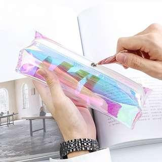 🚚 Transparent Glitter Pencil Case