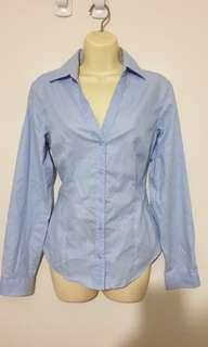Baby blue long sleeve shirt
