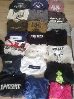 T-shirts,sweatshirt,hoodie,sweater 20helai