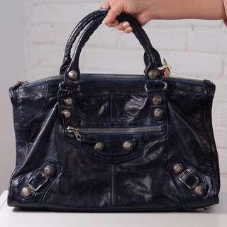 Balenciaga Work 21 SGH bleu, bag + mirror