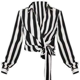 BNWT Wrap Front Tie Side Blouse