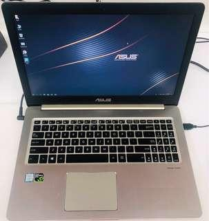 Asus N580v Gaming Laptop i7-7th / 16gb / 256gb ssd nvme / 1tb hard disk / GeForce Gtx 7050 / 1920 x 1080 FHD /