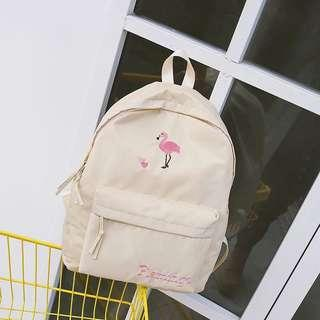 🚚 [PO] Embroidered Korean Style Backpack