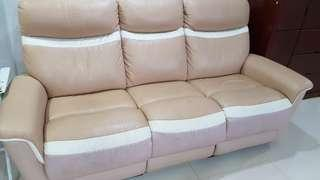 Three seater sofa with two recliner