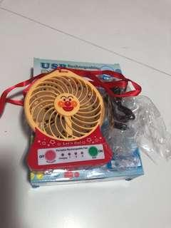 🚚 Rechargeable AnPan Man Mini Fan with USB