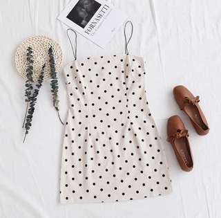 Polka Dress Ready Stock