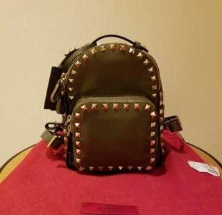 valentino Rockstud Mini leather backpack 背包