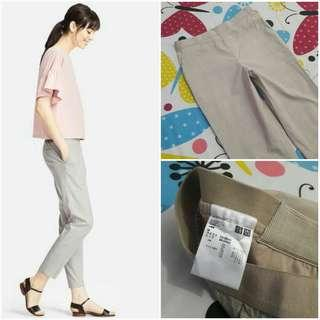 UNIQLO Check Ankle Length Pants (Beige M)