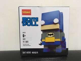 《全新現貨》漫威英雄 蝙蝠俠 積木 非樂高 立體拼圖 灰色Marvel