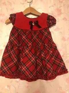 Annys Princess 80 經典蘇格蘭紅格子洋裝