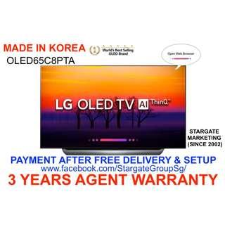 "🚚 LG OLED65C8PTA  (MADE IN KOREA)  65"" 4K ACTIVE HDR ULTRA HD SMART OLED TV W/ 3 YEARS SG AGENT WARRANTY (PAYMENT AFTER DELIVERY )"