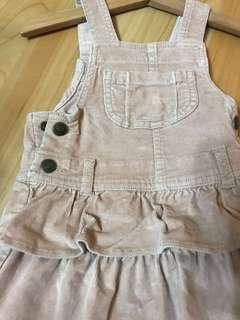 🚚 GAP 12m-18m 珊瑚絨布吊帶裙