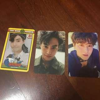[CLEARING] EXO SUHO PHOTOCARDS OFFICIAL