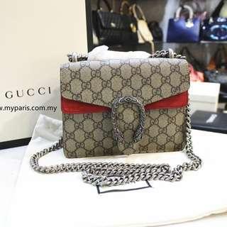 638370a3f24 Brand NewGucci Dionysus GG Supreme Mini Bag
