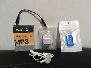 《全新現貨》隨身音樂mp3 大理石文青造型 隨身 便攜 SD記憶卡+讀卡機組合