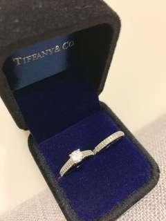 S925 Silver crystal ring set 純銀仿鑽石戒指套裝
