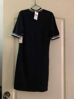 BNWT F21 high neck black bodycon dress