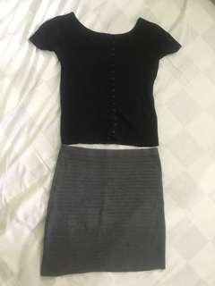 All 50rb knit h&m dan skirt