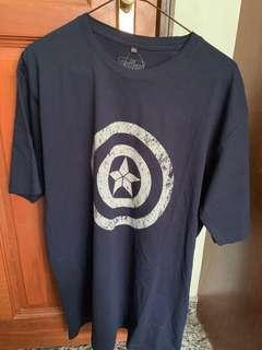 Heroes Avengers Captain America shield shirt (Blue)