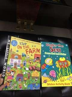 Sticker books + mystery gift